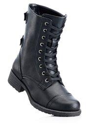 Ботинки на шнурках (бордовый) Bonprix