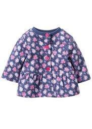 Мода для малышей: трикотажная куртка из биохлопка, Размеры  56/62-104/110 (синий индиго/розовый в цветоче) Bonprix