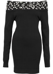 Пуловер с открытыми плечами (бежевый/коричневый матовый) Bonprix