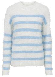 Пуловер прямого покроя (цвет белой шерсти) Bonprix