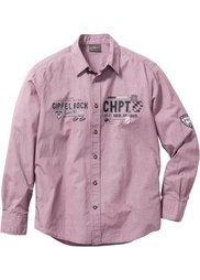 Рубашка Regular Fit  в традиционном стиле (ночная синь/белый с узором) Bonprix