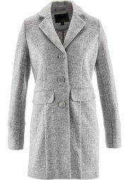 Пальто ПРЕМИУМ с большой долей шерсти (нежно-розовый) Bonprix