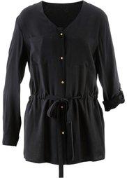Блузка в стиле карго с длинным рукавом (темно-оливковый) Bonprix