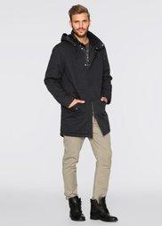 Куртка-парка с капюшоном и шалевым воротом Regular Fit (черный) Bonprix