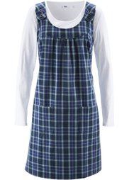 Платье (черный/серо-коричневый в клетк) Bonprix