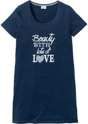 Ночная рубашка (светло-серый меланж/темно-крас) Bonprix