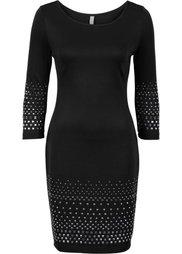Платье с заклепками (темно-красный) Bonprix