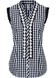Блузка в традиционном стиле (нежная фуксия/белый в клетку) Bonprix