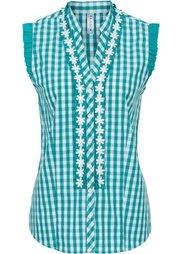 Блузка в традиционном стиле (черный/белый в клетку) Bonprix