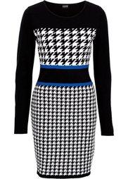 Вязаное платье (красный/черный/белый) Bonprix