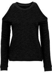 Пуловер с прорезями (цвет белой шерсти) Bonprix