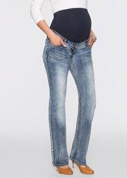 Для будущих мам: джинсы Bootcut (синий «потертый») Bonprix