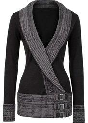 Вязаный пуловер (темно-оливковый) Bonprix