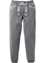 Трикотажные шорты Slim Fit в традиционном стиле (коричневый меланж) Bonprix