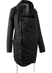 Мода для беременных: куртка-парка со вставкой для малыша и трикотажной подкладкой (оливковый) Bonprix