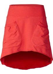 Трикотажная юбка с карманами (серо-коричневый) Bonprix