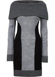 Вязаное платье (кленово-красный/черный) Bonprix