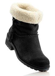 Замшевые ботинки (серо-коричневый) Bonprix