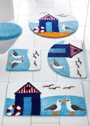 Коврик для ванной Побережье (нежно-голубой) Bonprix