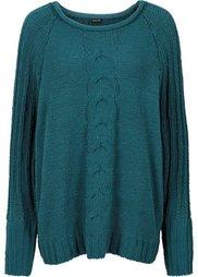 Пуловер из шенили (черный) Bonprix