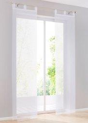 Японская штора Дарси (1 шт.), Шина с лентой велкро (белоснежный) Bonprix