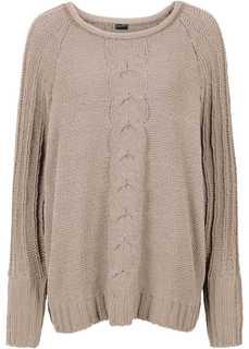 Пуловер из шенили (бежевый) Bonprix