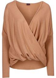Вязаный пуловер (дымчато-серый) Bonprix
