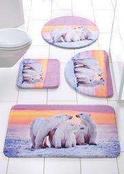 Коврик для ванной Белый медведь из пены-мемори (серый) Bonprix