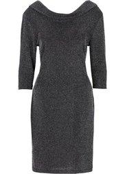 Люрексовое платье (черный/синий) Bonprix