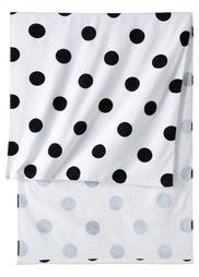 Пляжное полотенце Горошки (черный/белый) Bonprix