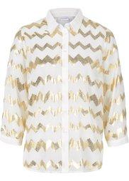Блестящая блузка (черный/серебристый) Bonprix