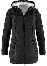 Легкая стеганая куртка с плюшевой подкладкой (серо-синий) Bonprix