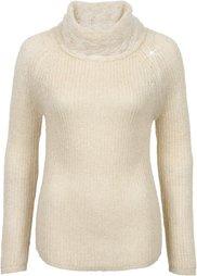 Пуловер с высоким воротом (дымчато-серый/серебристый) Bonprix