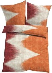 Постельное белье Икат, ренфорс (красно-коричневый) Bonprix