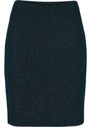 Люрексовая юбка (черный) Bonprix