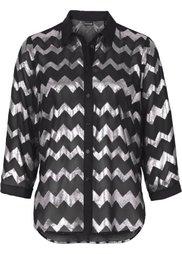 Блестящая блузка (цвет белой шерсти/золотистый) Bonprix