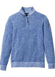 Пуловер Regular Fit с высоким воротом (черный/белый меланж) Bonprix