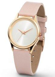 Часы на классическом браслете (белый) Bonprix