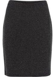 Люрексовая юбка (черный/синий) Bonprix