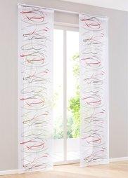 Японская штора Эрла (1 шт.), петли (серый/красный) Bonprix