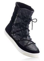 Полусапожки на шнурках (нежная фуксия) Bonprix