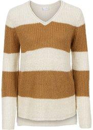 Пуловер с люрексом (белая шерсть/мятный пастельный) Bonprix