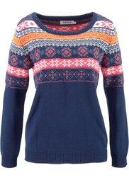 Пуловер (цвет белой шерсти с узором) Bonprix