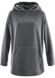 Флисовый пуловер-пончо (белая шерсть) Bonprix