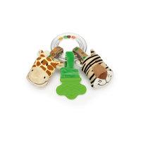Погремушка-прорезыватель Жираф и Тигр, Динглисар, Teddykompaniet