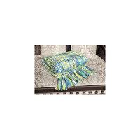 """Плед """"Picasso"""" 140x180 с кистями ML Premium, Mona Liza, зеленый/бирюзовый Мона Лиза"""