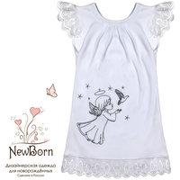 Крестильное платье, шитье, р-р 74, NewBorn, белый
