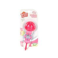 Погремушка с прорезывателем Леденец Bright Starts, розовая