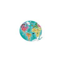 """Пазл двухсторонний в круглом чемоданчике """"Наша планета"""", 208 деталей, Janod"""