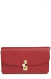 Кожаный клатч на цепочке Dolce & Gabbana